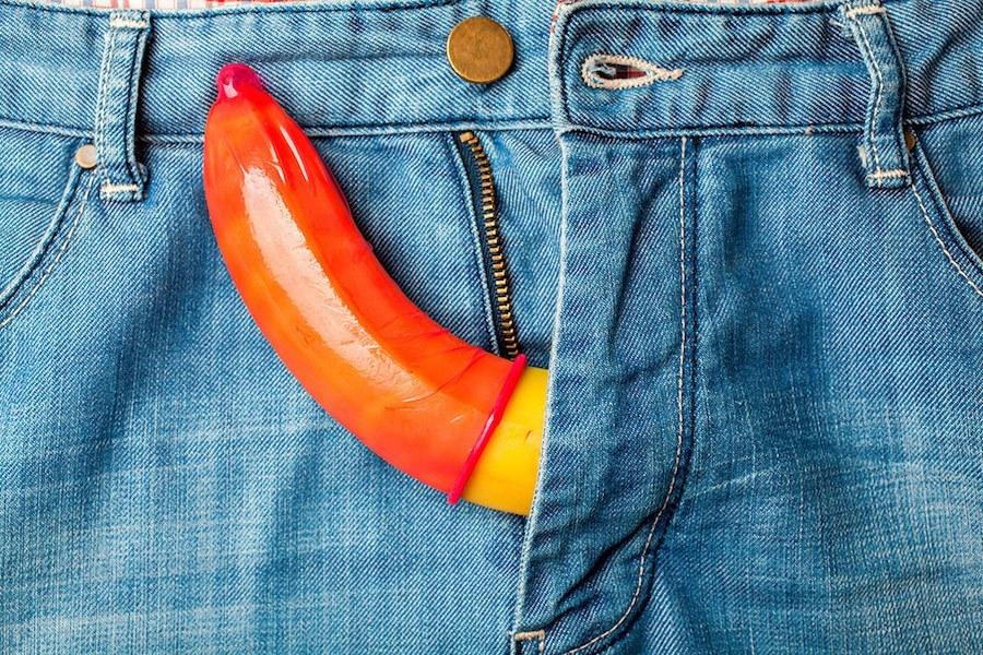 Kondom überziehen