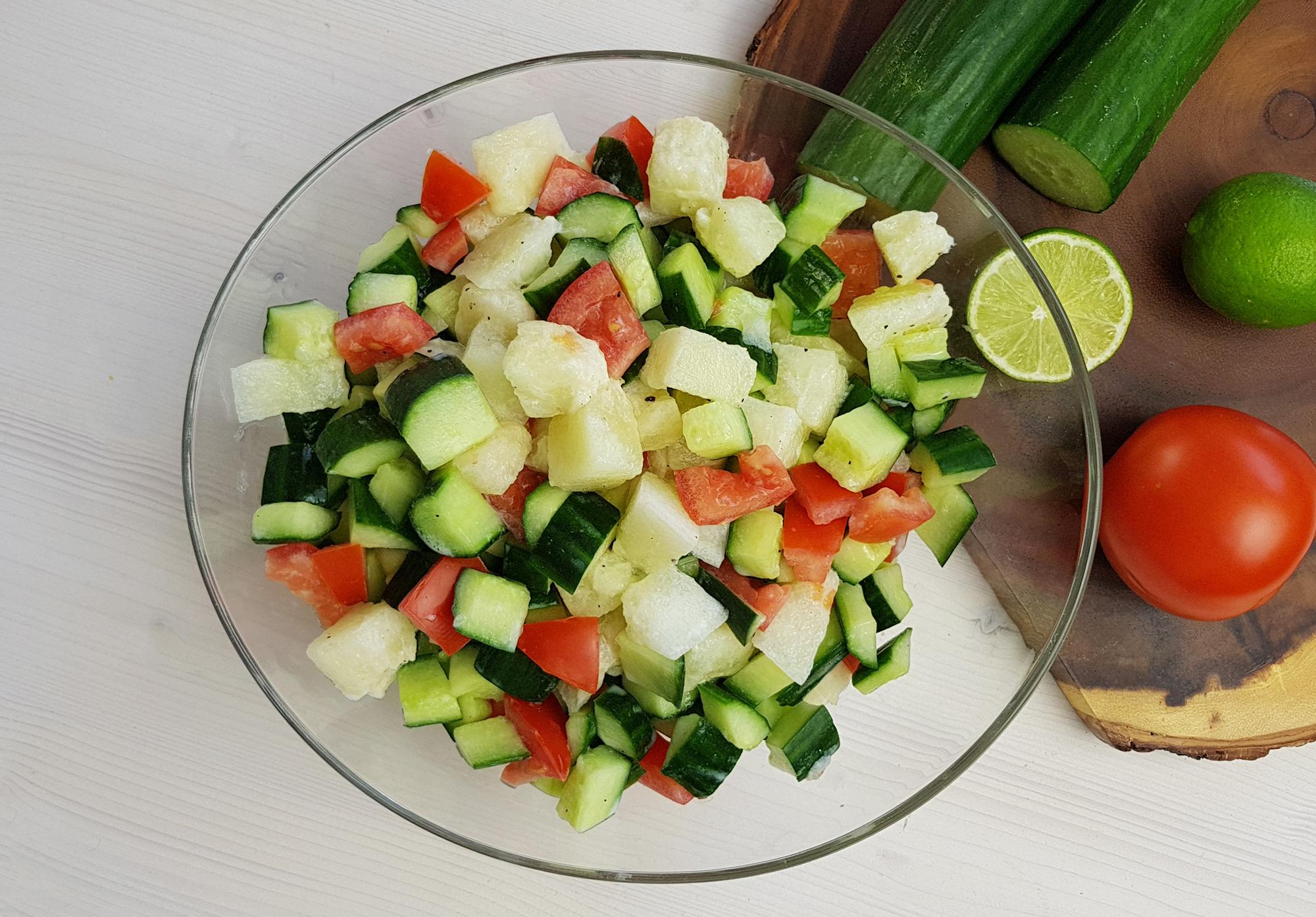 Sommersalate: Melonen-Gurken Salat