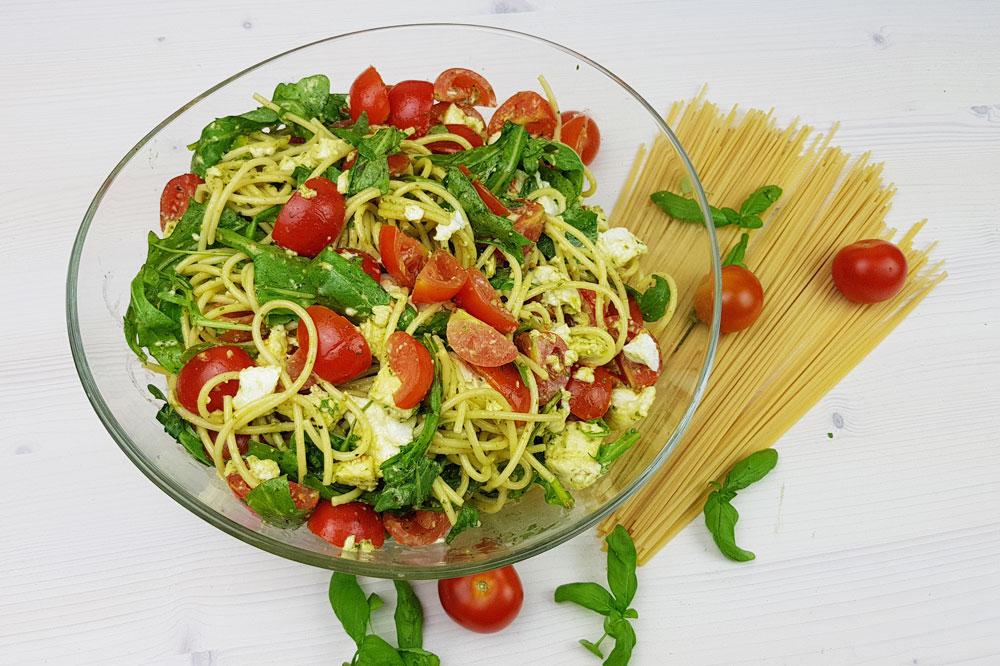 Sommersalat: Spaghettisalat Rezept
