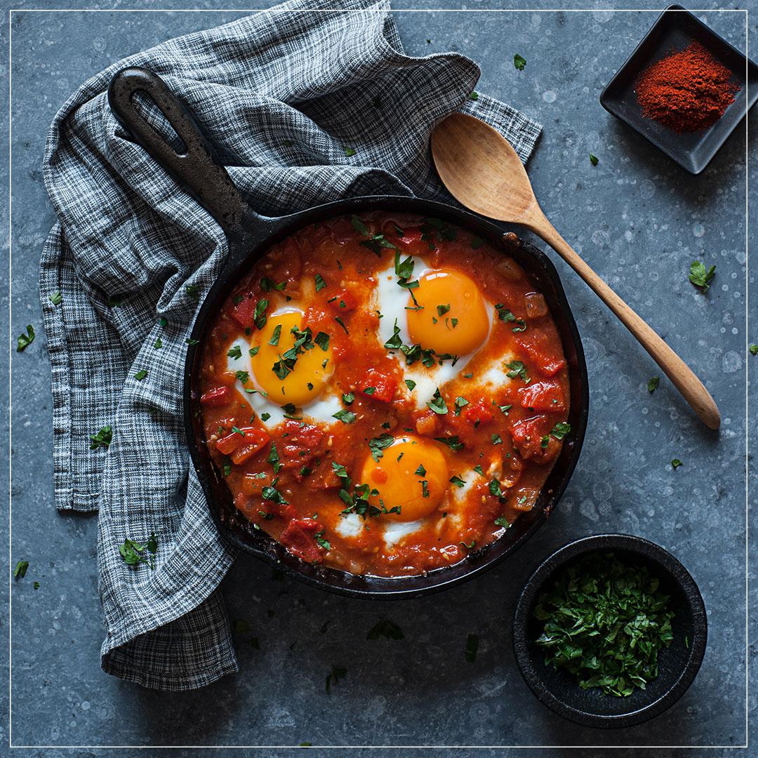 Shakshuka Frühstück aus Israel
