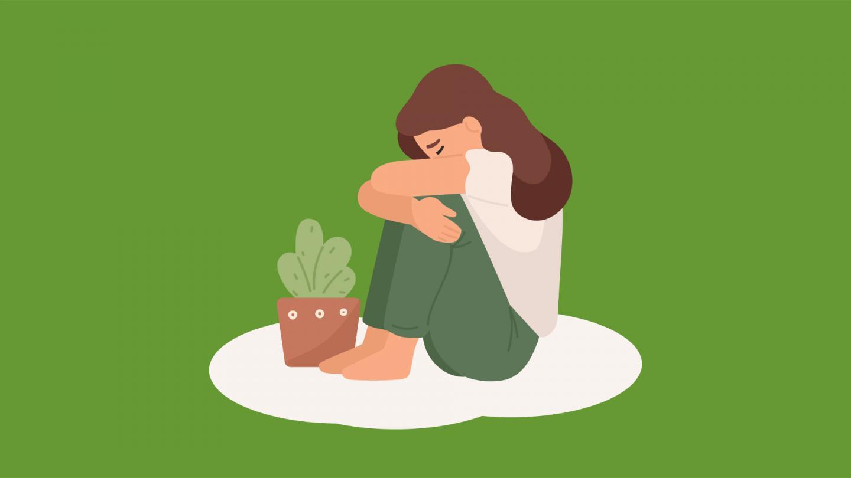 Illustration trauriges Mädchen